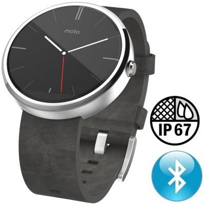 SmartWatch Motorola Moto 360 Leather Stone