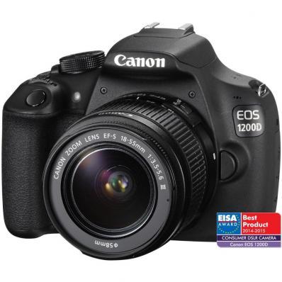 Aparat foto D-SLR Canon EOS 1200D, 18MP + Obiectiv EF-S 18-55mm DC III
