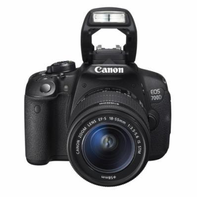 Aparat foto D-SLR, EOS 700D Kit: +obiectiv 18-55, Cadou: card memorie SDHC Transcend Wi-Fi (wireless) 16GB in valoare de 399 Ron