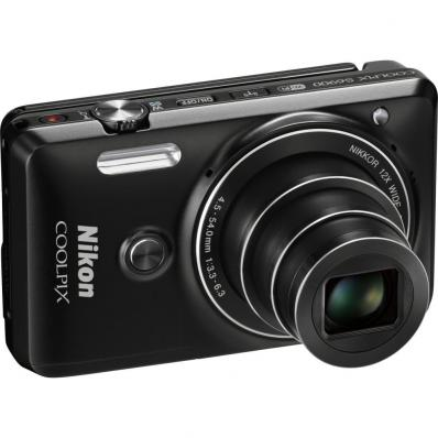 Aparat foto digital COOLPIX S6900, 16MP, Black + Card 16GB + Husa universala