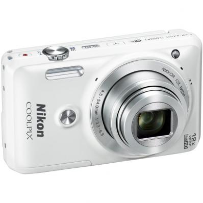 Aparat foto digital COOLPIX S6900, 16MP, White + Card 16GB + Husa universala